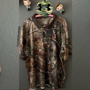 Under Armour Men's UA Camo Polo Shirt Size 2XL
